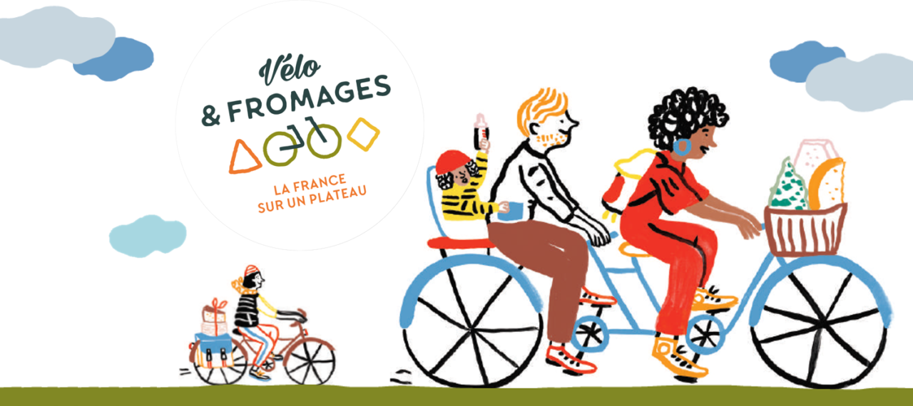 Logo for Vélo & Fromages in France.