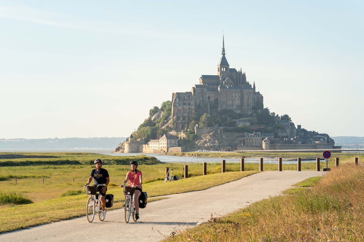 Le Mont Saint Michel from the Velomartime
