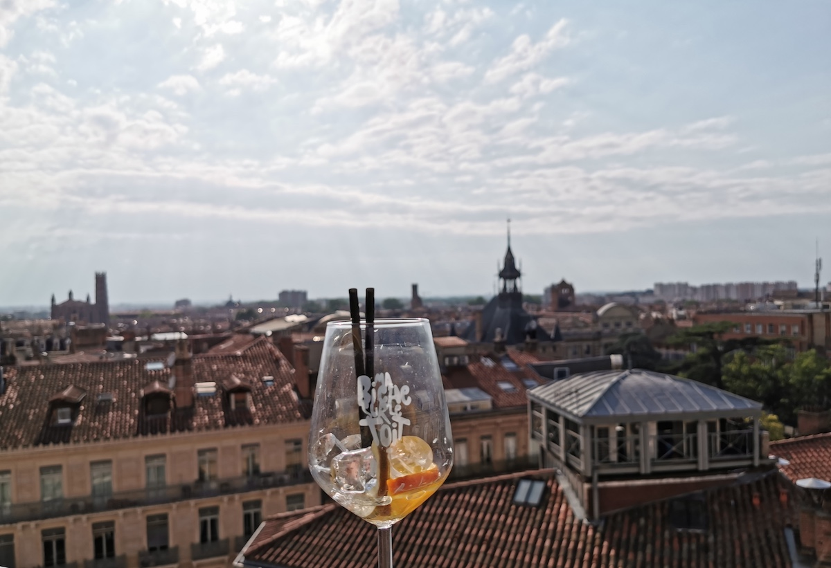 From the terrace at Ma Biche Sur Le Toit looking out over Toulouse.